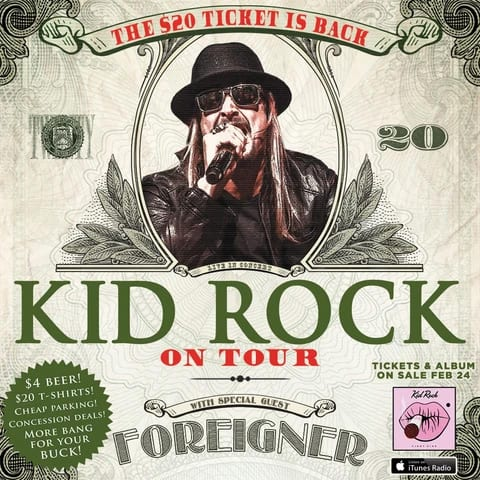Kid Rock The 20 Dollar Ticket Is Back
