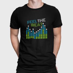 Feel The Beat T Shirt For Men Black